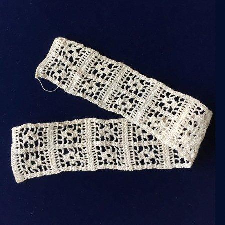 手編みのレース 生成 4.5×35cm