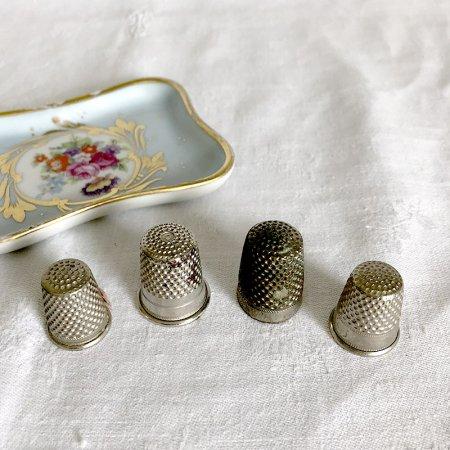 金属製のシンブル 指ぬき(4個セット)