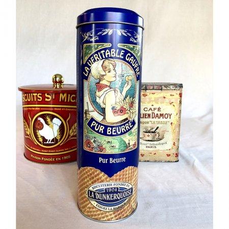 TIN缶 ヴィンテージ ワッフル缶(la dunkerquoise)