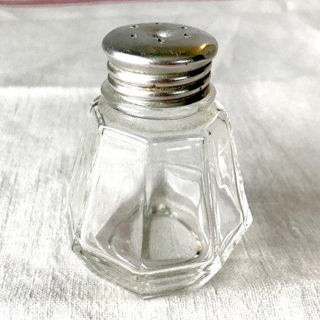 ガラスのコロンとした調味料入れA ブロカント