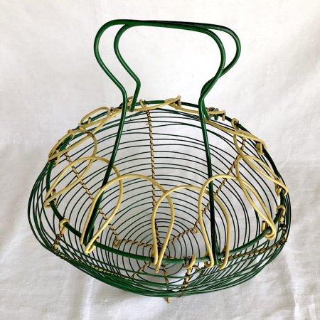 ワイヤーバスケット  野菜 水切りかご  バイカラー ブロカント