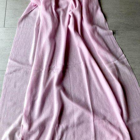 薄手カシミヤストール 桃色ピンク  jardin prive 未使用品
