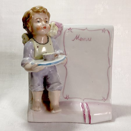 マイセン 少女とメニューボード フィギュリン(陶器)