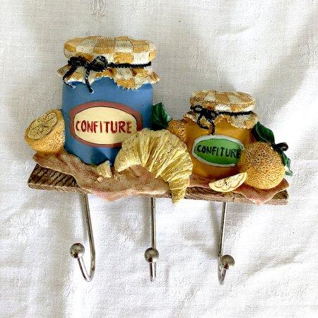 可愛いコンフィチュール瓶モチーフのキッチンハンガー