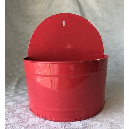 ブロカントの赤い鉢カバー ハンギングタイプ
