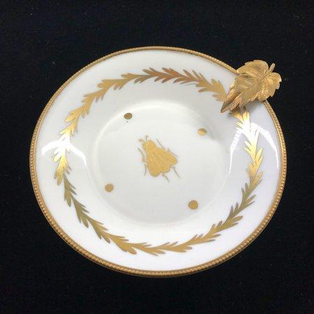 リモージュ 小皿(虫柄) ポーセレンBHヴァンセンヌ  ゴールドフレーム  Limoges