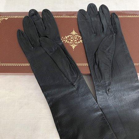 革手袋(黒)レディース ロング 本革