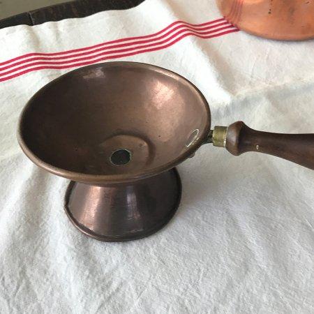 銅製サービングプレート 木製ハンドル フランス