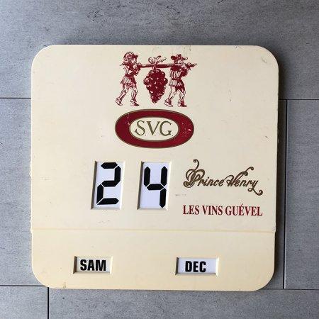 ビストロ カレンダー フランスカフェ雑貨 ダイヤル式