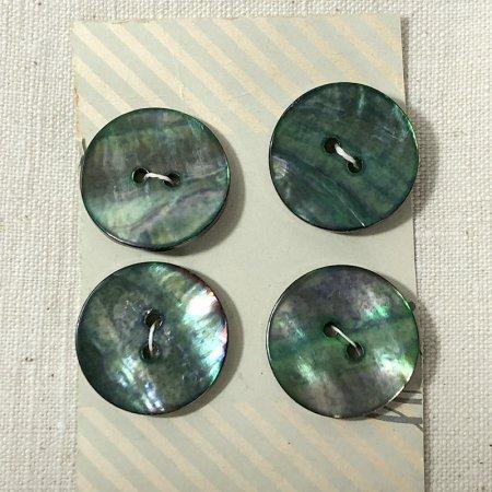ボタン シート 緑系シェル 手芸素材