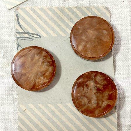 ボタン シート 茶色マーブル 手芸素材