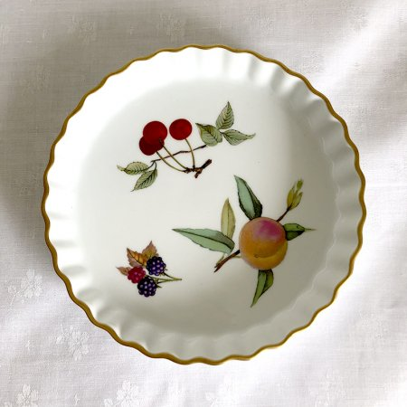タルト皿 ロイヤルウースター イヴシャム フルーツがら 英国ティータイム