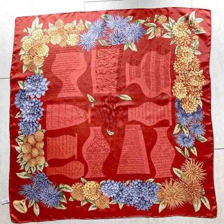 スカーフ シルク100% ロンシャン フランスーsoracoya(空小屋)