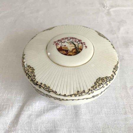 ボンボニエール 陶器小物入れ  ジュエリーボックス 和風 ジャポニスム リモージュ  フランス