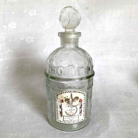 アンティーク香水瓶 GUERAIN ゲランビーボトル 空瓶 紙ラベル付き フランス