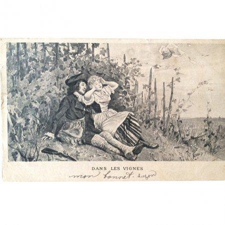 恋人たちのポストカード(モノクロ)5葡萄の木