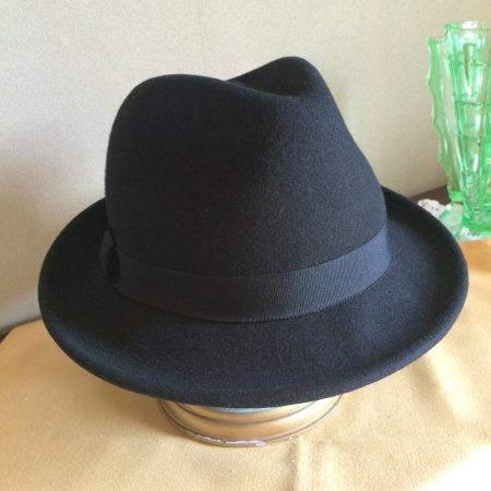 ウールフェルト中折れ帽子 レディス