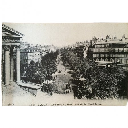 ポストカード -パリの建築物 3-<br>マドレーヌの並木通り