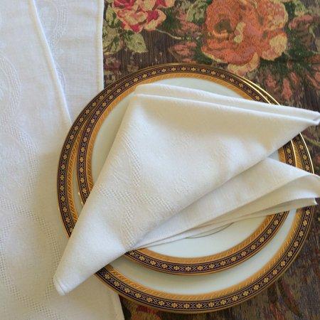 テーブルナプキン 白リネン3枚セット