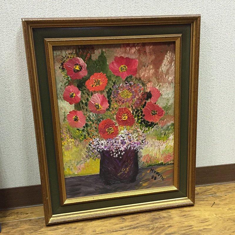 油絵 花 ブロカントフレーム