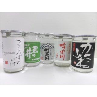 【上越市のお土産】新潟ふるさと村限定 上越ワンカップ飲み比べセット(5本)