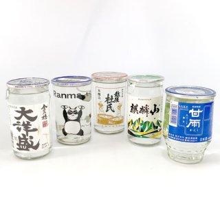 【新潟のお土産】新潟ふるさと村限定 下越ワンカップ飲み比べセット(5本)