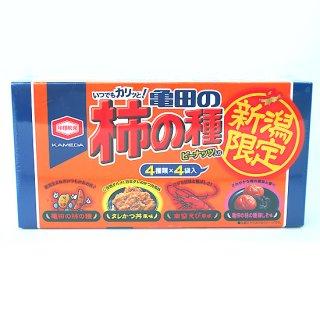 【新潟のお土産】新潟限定 亀田の柿の種(4種類×4袋入り)