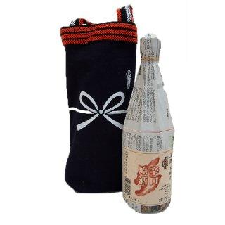 【新潟のお土産】天領盃原酒(辛口)蔵元と新潟ふるさと村限定販売品と酒袋セット