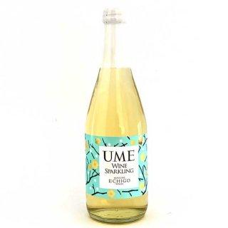 越後ワイナリー「スパークリングワイン 梅」 越後ワイン(白)と国産梅果汁をブレンドした微発泡性のスパークリングワイン 500ml