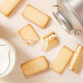 【佐渡グルメ】 佐渡ミルクサンドクッキー 12枚入り 佐渡牛乳100%使用