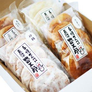 惣五郎手焼せんべい4種セット 自社栽培の魚沼産コシヒカリ100%使用 さくさくした食感と食べると感じるお米の香りが特徴 専用化粧箱入り