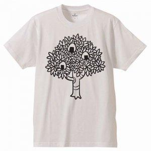 私の世界の見方Tシャツ−おにぎりの木