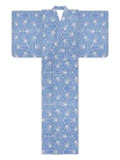 変り麻型(薄ブルー斑入)/浴衣
