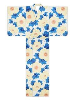 新夏芙蓉(オーシャンブルー)/浴衣