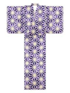 麻型ぼかし(紫)/浴衣