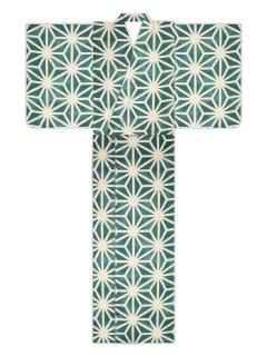 麻型ぼかし(グリーン)/浴衣