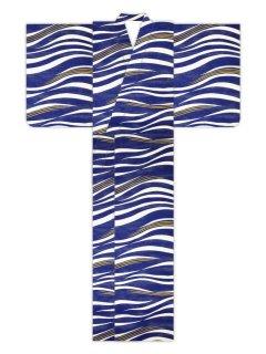 波横段(紺)/浴衣