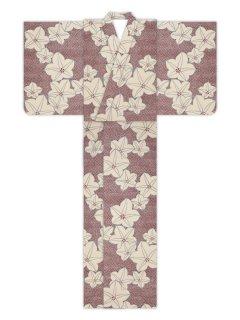 桔梗疋田地(ボルドー)/浴衣