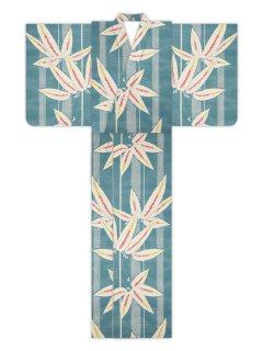 たて疋田に大竹(ブルー)/浴衣