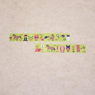 マスキングテープ〈15mm幅〉お絵描き大賞典【くろさわデザイン】ターフ