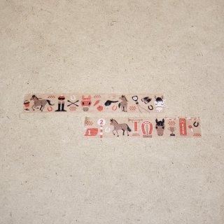 マスキングテープ〈15mm幅〉お絵描き大賞典【くろさわデザイン】ダート