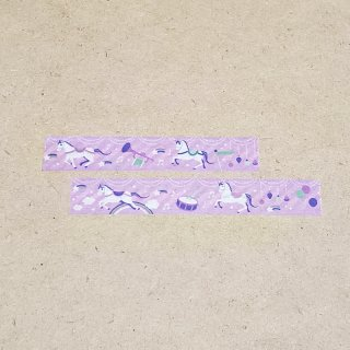 マスキングテープ〈15mm幅〉お絵描き大賞典【くろさわデザイン】ファンファーレ