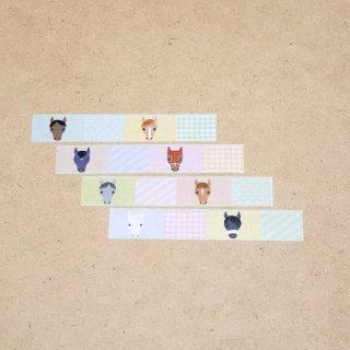 マスキングテープ〈15mm幅〉お絵描き大賞典【みぃデザイン】パステル