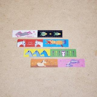 マスキングテープ〈15mm幅〉お絵描き大賞典【ひいデザイン】枠わくカラー
