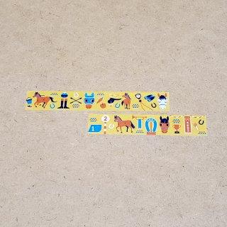 マスキングテープ〈15mm幅〉お絵描き大賞典【くろさわデザイン】ビタミン