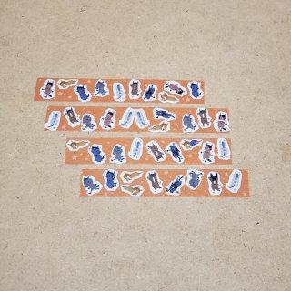 マスキングテープ〈15mm幅〉お絵描き大賞典【みぃデザイン】フレーク(オレンジ)