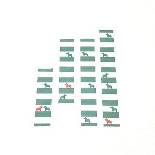 マスキングテープ〈15mm幅〉お絵描き大賞典【みぃデザイン】しましま(エメラルド)
