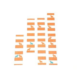 マスキングテープ〈15mm幅〉お絵描き大賞典【みぃデザイン】しましま(オレンジ)