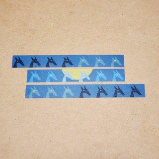 マスキングテープ〈15mm幅〉お絵描き大賞典【はづきデザイン】ツキカゲノウマ