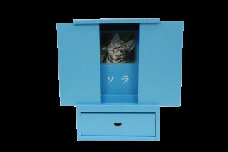 「はこぼ」ミニ仏壇型ブルー